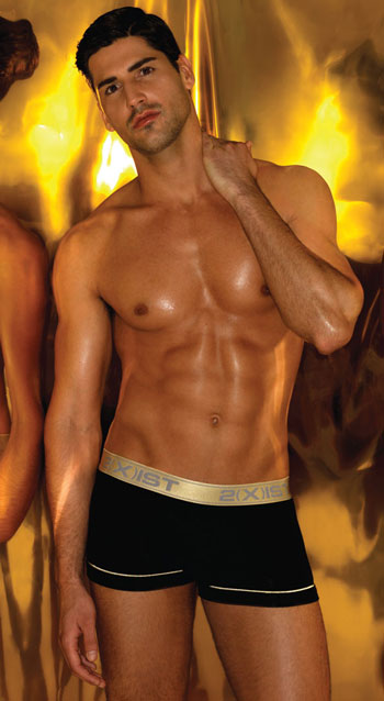 2xist Underwear Gold Trunk Black
