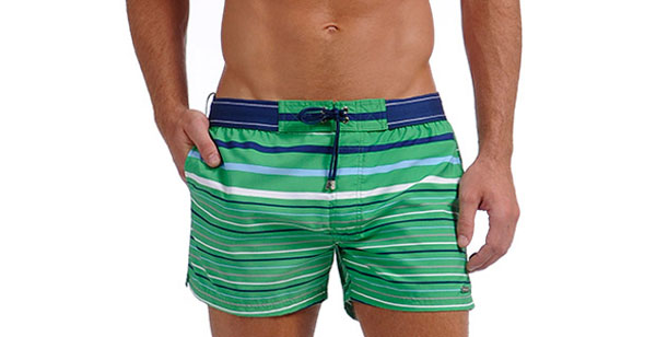 2xist Graduated Stripe Ibiza Shorts