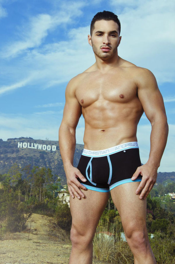 Andrew Christian Punked Tighty Whitie Boxer Brief Black
