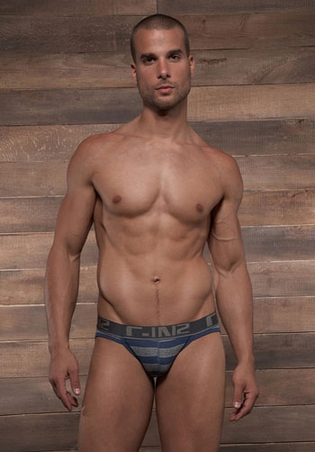 C-IN2 Pop Stripes Sport Brief Moony Blue Front