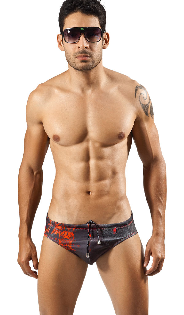 Clever Moda Swim Brief Tiger 0556