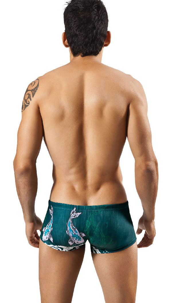 Clever Moda Swim Trunk Koi Fish 0562