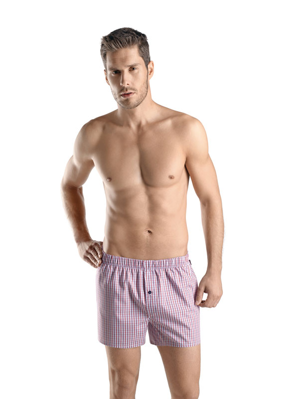 Hanro Fancy Woven boxer shorts fire check