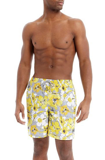 Hugo Boss Swim Board Shorts Blue Yellow