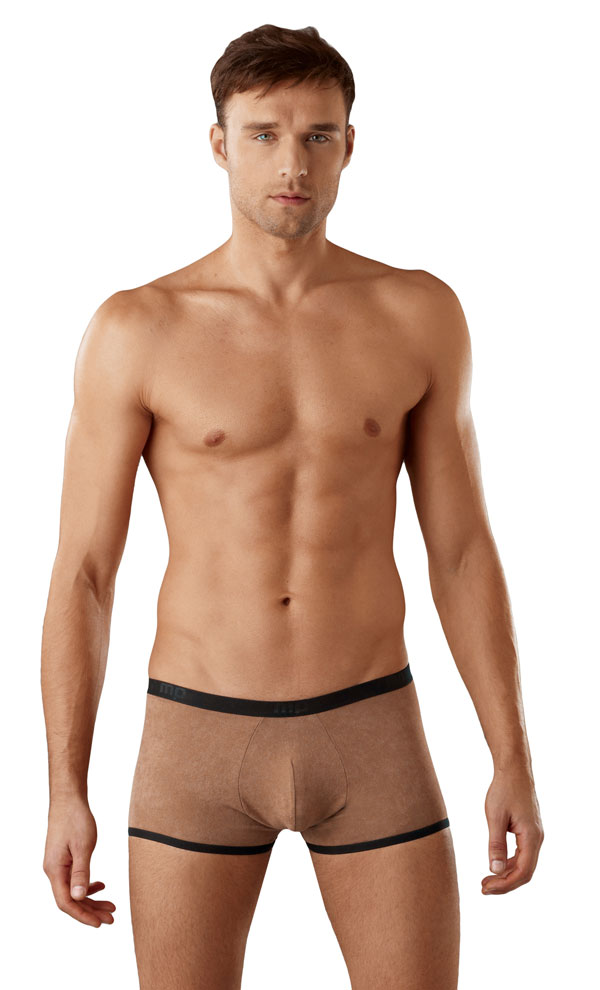 Male Power Stretch Seude Short Mocha