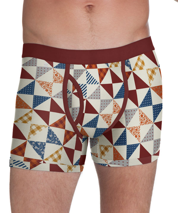 Pact Holiday Warmth boxer brief holiday quilt