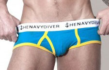 IMAGE Navy Diver Shark Boy Brief Blue