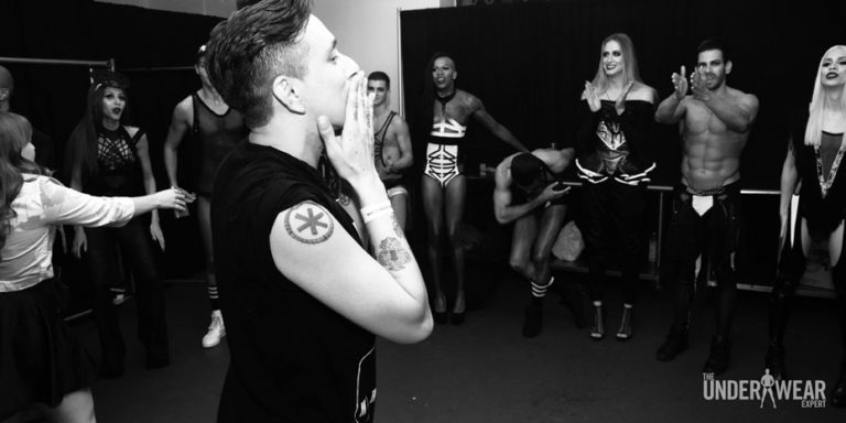Backstage At The Marco Marco Show - The Underwear Expert