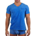 Papi Underwear Mineral Wash Collection Blue T-Shirt