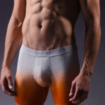 Saxx Underwear Vibe Boxer Dip Dye Orange