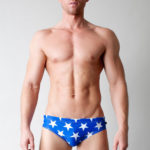 Timoteo Swimwear Sale Marina Low-Rise Swim Brief - Blue/White Star